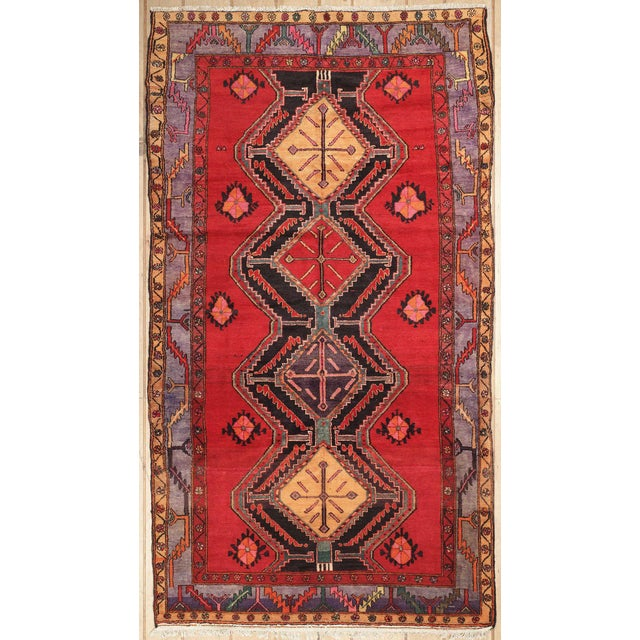 Antique Afshar Design Persian Rug - 5'3''x9'4'' - Image 1 of 4