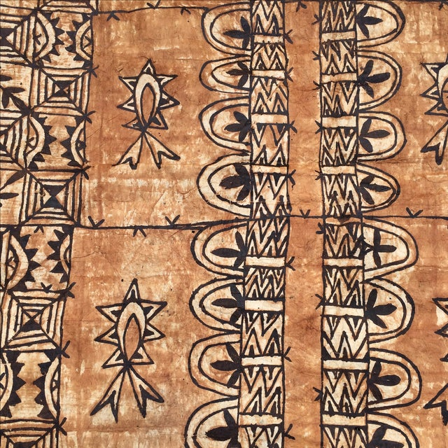 Boho Chic Tapa Cloth Wall Hanging For Sale - Image 3 of 10
