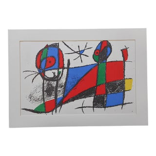 Large Vintage Ltd. Ed. Joan Miro Lithograph-Original Design For Sale