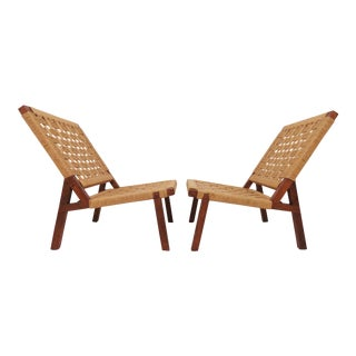 Mexican Modernist Lounge Chairs Attributed to Clara Porset, Circa 1950s - a Pair For Sale
