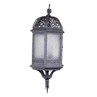 Early 20th Century Vintage Wrought Iron Lantern For Sale