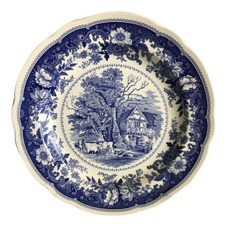 English Spode Country Scenes Plate