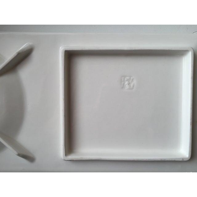White Japanese Porcelain Dish For Sale - Image 8 of 9