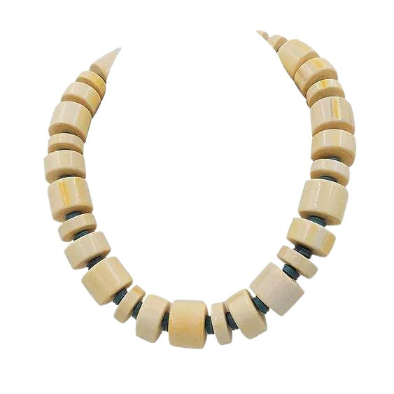 Monet Beaded Ad Piece Necklace, 1982 For Sale