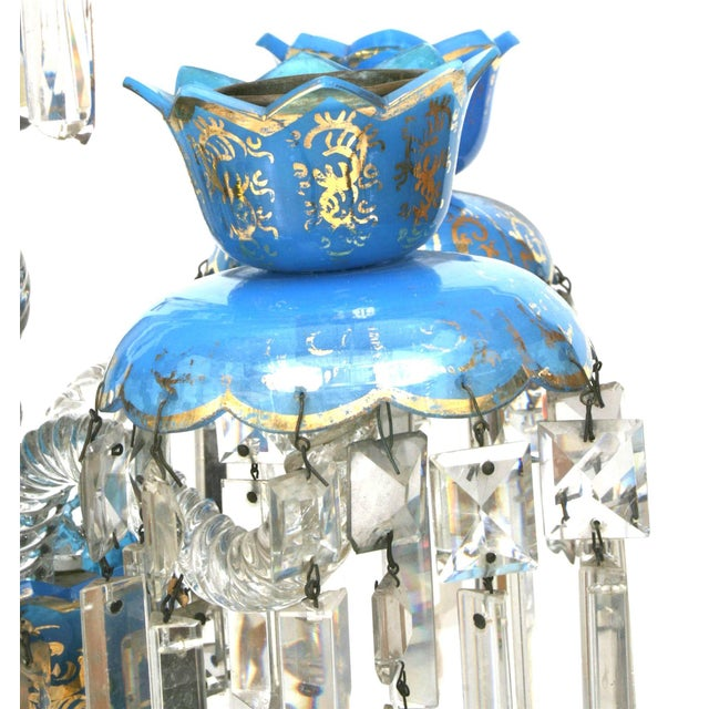 Crystal Pair of French Victorian Baccarat Crystal Candelabras For Sale - Image 7 of 12