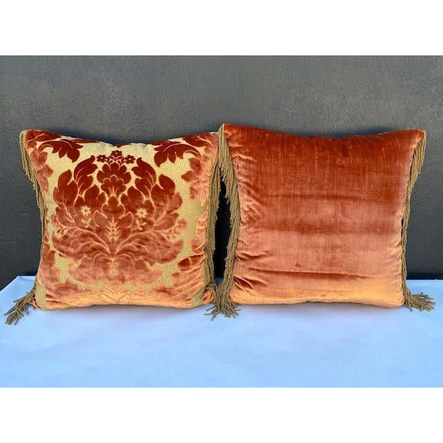2010s Luigi Bevilacqua Silk Velvet Pillows - A Pair For Sale - Image 5 of 8