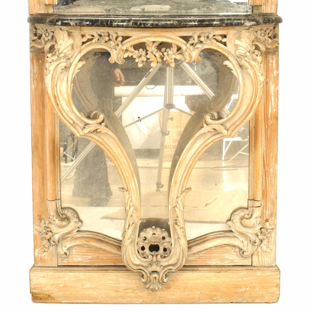 Glass 19th Century French Louis XV Console Table and Mirror For Sale - Image 7 of 8