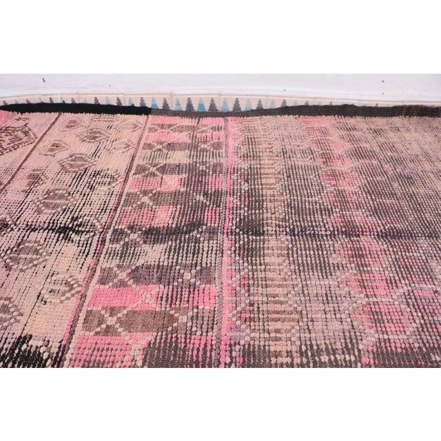 "Vintage Boujad Moroccan Rug - 4'11"" x 9'4"" - Image 3 of 4"