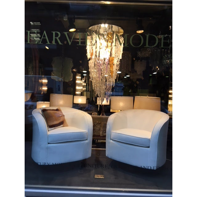 Outstanding Mid Century Modern Murano Icicle Chandelier by Mazzega For Sale - Image 11 of 11