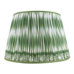 "Ikat Printed Lamp Shade 14"", Asparagus For Sale"