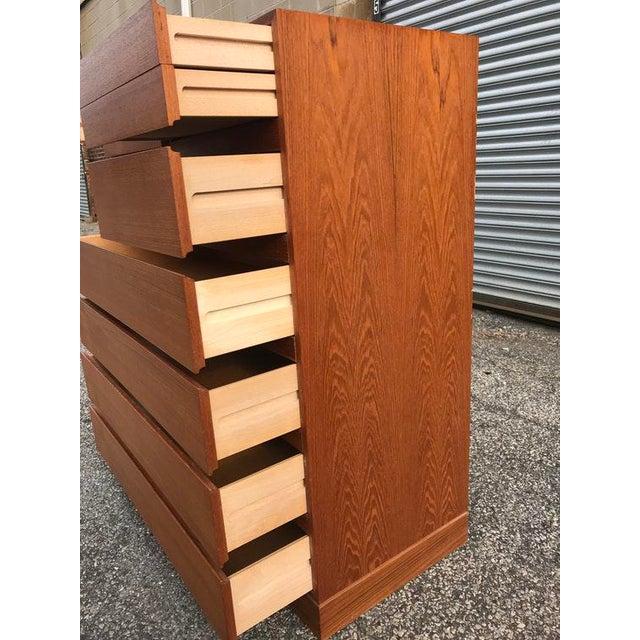 Danish Teak Tall Dresser - Image 4 of 7
