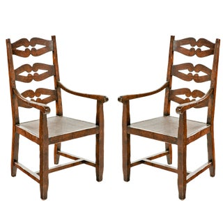 18th Century Ladderback Armchairs - a Pair For Sale