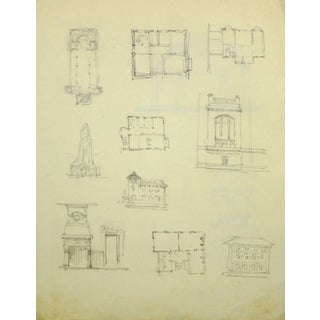 Building Sketches in Pencil For Sale
