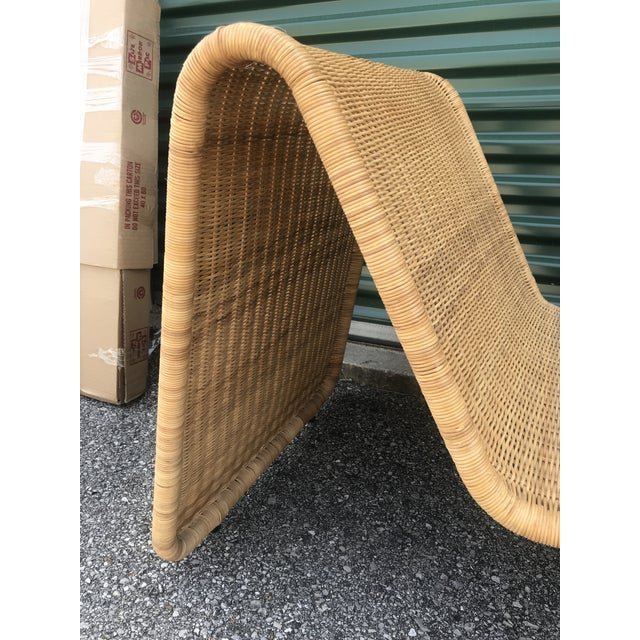 Tito Agnoli Tito Agnoli P3 Wicker Lounge Chair For Sale - Image 4 of 10