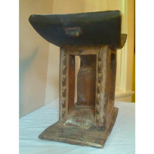 Wood Antique African Carved Ashanti Asante Stool For Sale - Image 7 of 11
