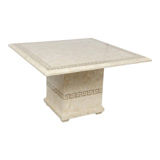 Square Marble Dining or Conference Table For Sale