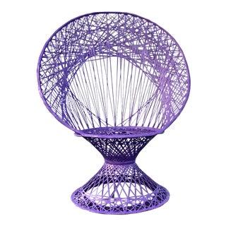 Ultra Violet Russell Woodard Mid-Century Spun Fiberglass Peacock Chair
