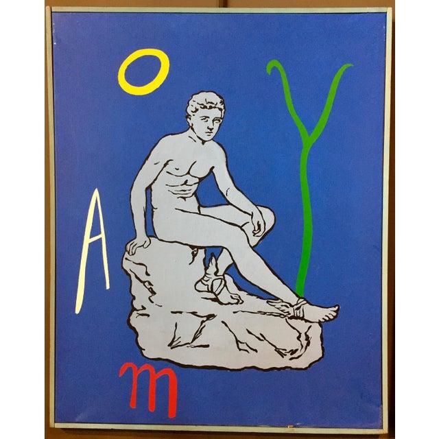 "Patrick Moya ""Mercure Bleu"" Acrylic, France For Sale - Image 9 of 9"