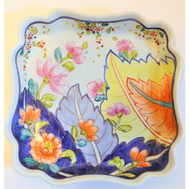 1970s Chinoiserie Tobacco Leaf Trinket Tray For Sale - Image 4 of 6