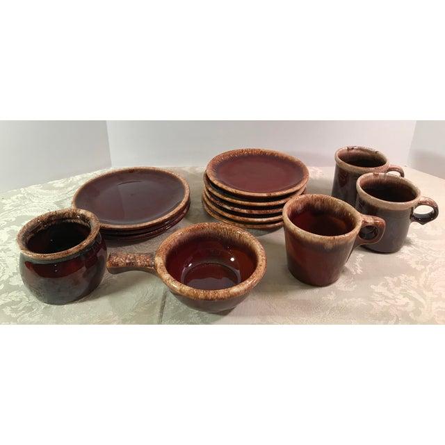 Hull & McCoy Drip Glaze Dishes - Set of 13 - Image 2 of 11