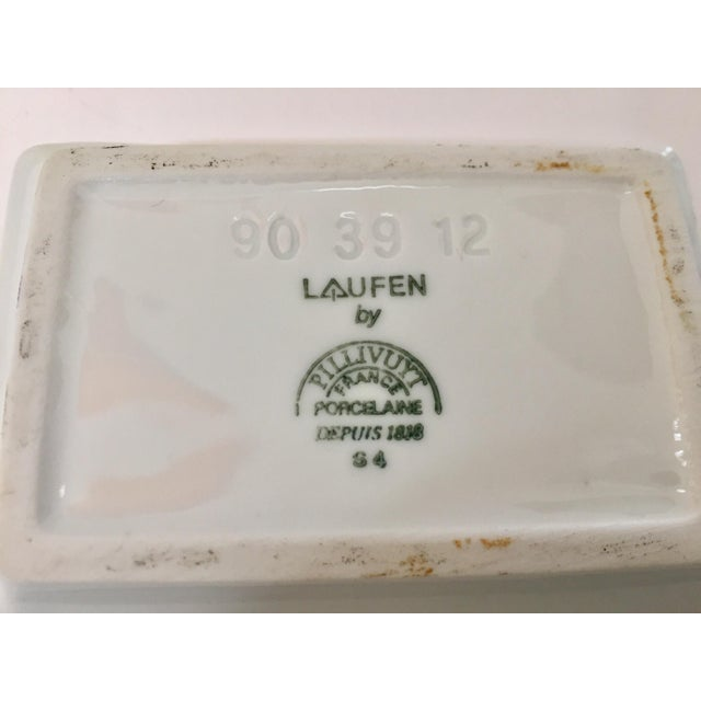 Vintage Laufen Pillivuyt, France Collector Porcelain Ashtrays - Set of 6 For Sale - Image 9 of 12