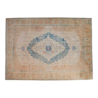 Vintage Distressed Bulgarian Herati Design Carpet For Sale