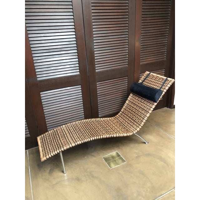Interior Wicker Chaise Lounge For Sale - Image 11 of 11