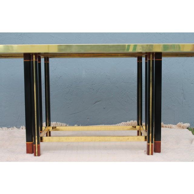 "Gold Paola Barachia ""Roman Deco Spa"" Italian Mastercraft Style Dining Table For Sale - Image 8 of 11"