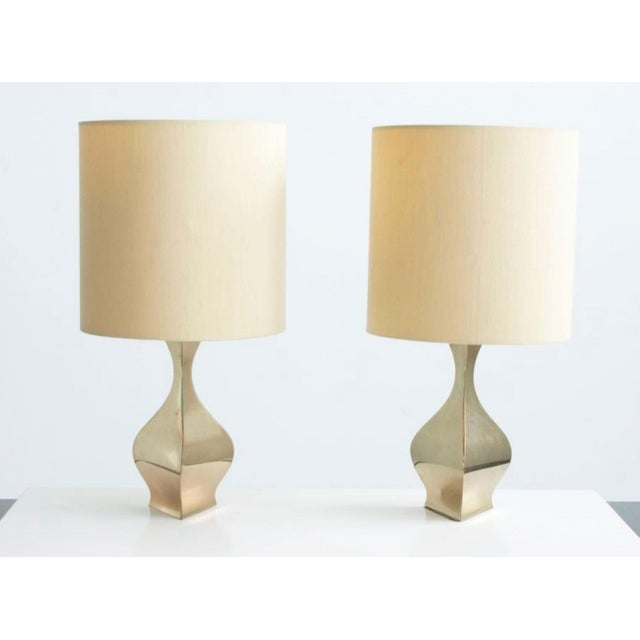 Pair of table lamps. Available for view in our NYC showroom.