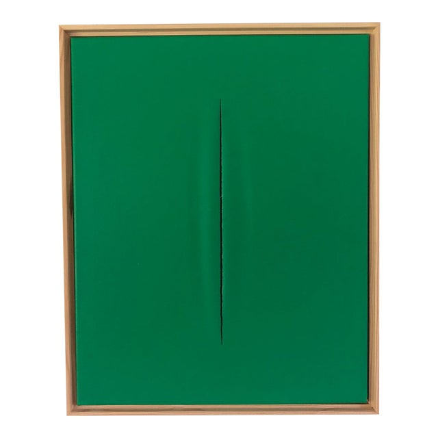 Abstract Green Slice Modern Art Painting by Tony Curry For Sale - Image 3 of 3