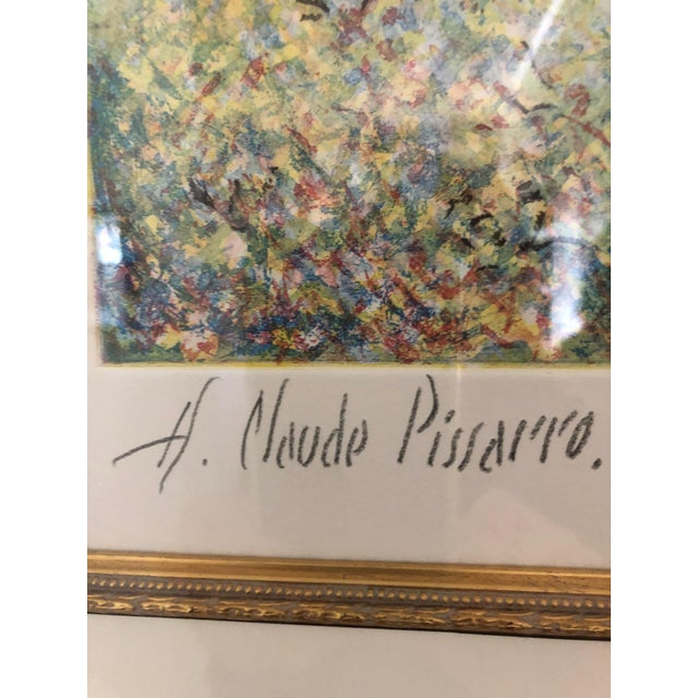 1900s Impressionist Print of Framed Trees in Bloom Aquatint Signed by H Claude Pissarro For Sale In Philadelphia - Image 6 of 12