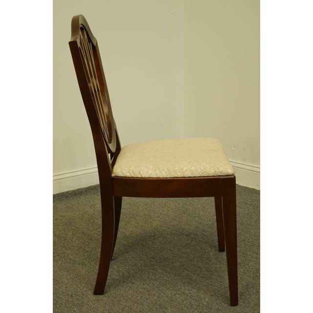 White 1960's Antique Vintage Solid Cherry Duncan Phyfe Sheild Back Side Chair For Sale - Image 8 of 10