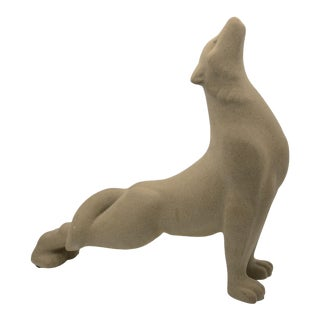 Haeger Mid Century Wolf Sculpture For Sale