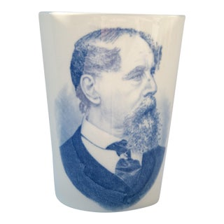 "Late 19th Century Wedgwood Porcelain ""Charles Dickens"" Portrait Cup For Sale"