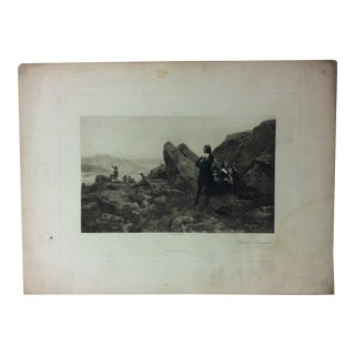 "Antique Photogravure on Paper, ""Fugitive Huguenots"" - D. Appleton Co - Circa 1860 For Sale"