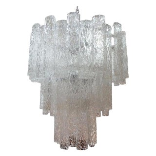 1960s Mid Century Murano Glass Chandelier-Venini Style For Sale