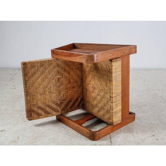 French Modernist Teak and Cane Lounge Chair, 1930s - Image 5 of 10