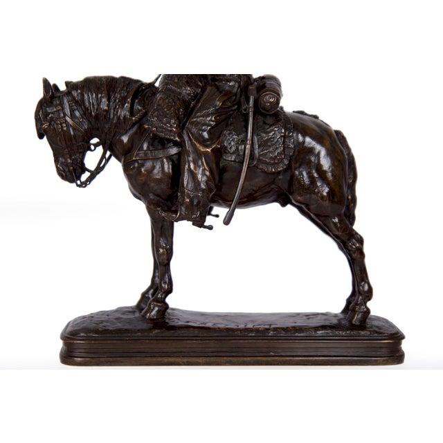 Antique French Bronze Sculpture of a Soldier on Horseback by Emmanuel Fremiet For Sale - Image 12 of 13