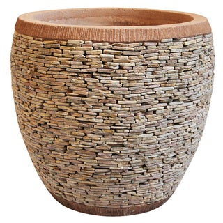Peach Pebble Stacked Planter For Sale