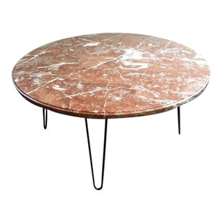 1960s Italian Round Marble Coffee Table For Sale