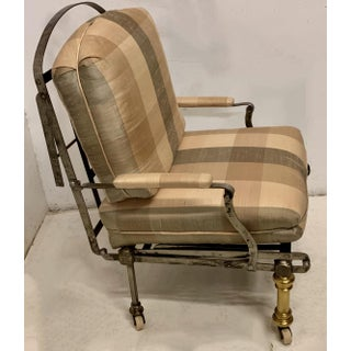 Antique French Steel & Brass Campaign Chair / Chaise Preview