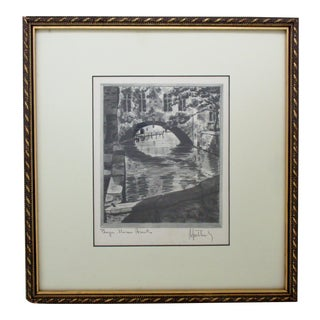 Gravure Print, Maison Arents in Bruges For Sale