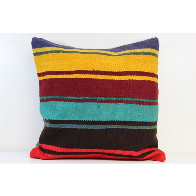 20'' Large Vintage Turkish Kilim Pillow Cover - Image 2 of 5