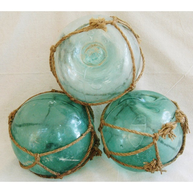Jumbo Hand-Blown Glass Fishing Floats - Set of 3 - Image 3 of 5