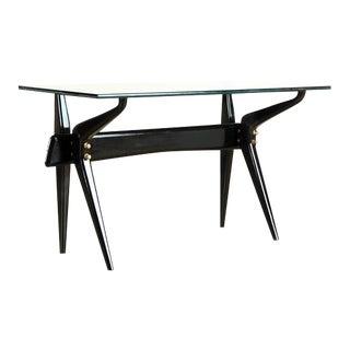 Italian Ico Parisi Desk Black Writing Desk For Sale