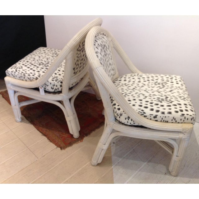 1960s Mid Century Henry Link Chairs With Brunschweig & Fils Upholstery - A Pair For Sale - Image 5 of 6