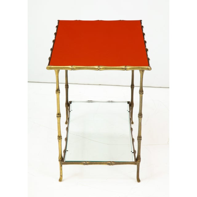 1960s Solid Bronze Faux Bamboo Side Table by Maison Baguès, France, 1960s For Sale - Image 5 of 10