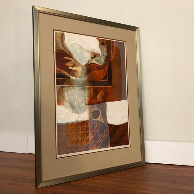 Glass Original Sunol Alvar Embossed Artist Proof Signed Lithograph Framed With Museum Glass For Sale - Image 7 of 12