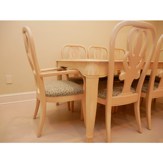 """20th Century Bernhardt """"Palm Court"""" Dining Table & 8 Chairs - 9 Pieces For Sale - Image 6 of 9"""