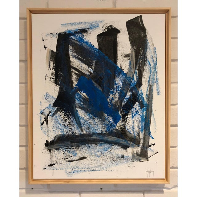 Abstract Unique Modern Abstract Painting by Tony Curry For Sale - Image 3 of 3